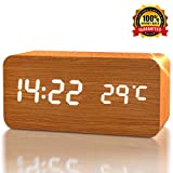 [Newest 2017 Model] Upgraded LED Wood Alarm Clock - Perfect for Adults, Kids ...